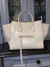 Celine Medium Luggage Phantom Tote Beige Calf Leather