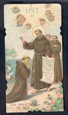 santino.82 HOLY CARD San Francesco de asis