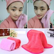 Hot Reusable Makeup Easy Eraser Washable Cosmetics Remover Towel Mascara Removal Pink One Size