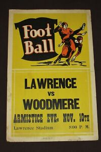 Lawrence Vs Woodmere American Football 1936 Sports Original Vintage Sign Rare