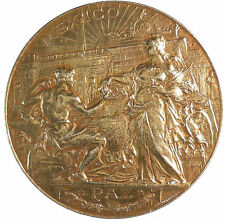 1889 Paris PARTICIPATION OF MEXICO IN THE UNIVERSAL EXPOSITION silver-gilt 63mm