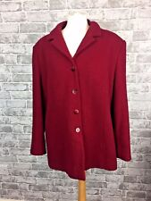 Eastex Heirloom Collection Red Jacket Coat Size 16