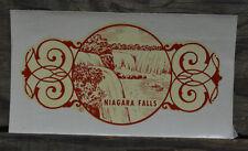 ORIGINAL VINTAGE TRAVEL DECAL NIAGARA FALLS NEW YORK CANADA WATERFALL OLD AUTO