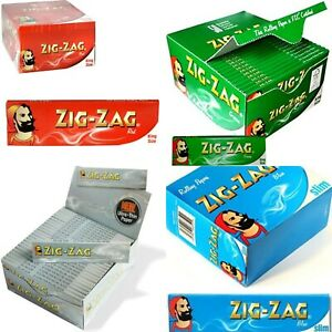 ZIG ZAG King Size & Slim Smoking Rolling Paper-GREEN-RED-BLUE-SILVER