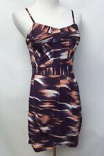 Finders Keepers Womens Size Medium Sheath Dress Open Back Purple White Orange