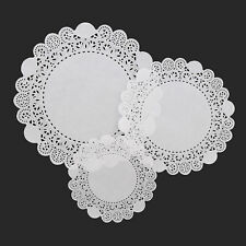 More details for lacette white round paper lace doyleys doylies doilies 6.5