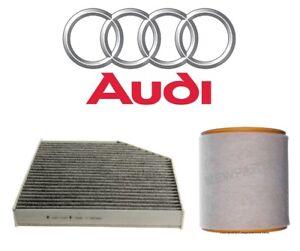 For Audi A6 A7 Quattro S6 S7 Pair Set of Air & Cabin Air Filters Genuine