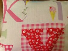 Laura Ashley A B C  Bolster Cushion Cover  A B C Fabric Both Sides Cute and New!