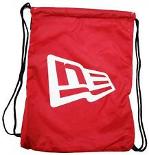 New Era Branded Gym Sack Red White OSFA Draw String Bag Backpack Turnbeutel New