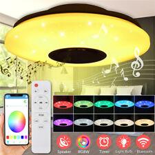 60W LED Lámpara de Techo bluetooth Música Altavoz Control Remoto RGB Ligero