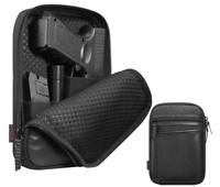 Concealed Carry Gun Pouch Pistol Handgun Soft Case Fanny Pack Belt Holster Black
