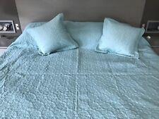 Duck Egg / Teal Bedspread/Throw & Cushion Covers