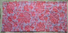 C19th Antique French Fabric Lightly Quilted Red Flowers/Checks to Reverse Side