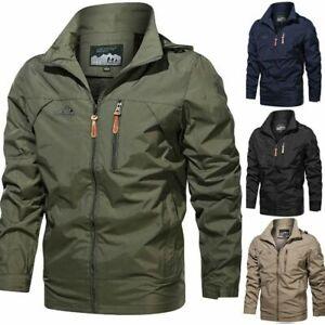 Men's Waterproof Military Jacket Hooded Breathable Outdoor Tactical Winter Coat