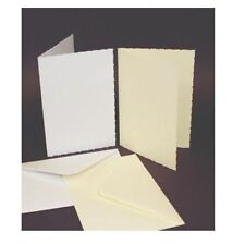 50 x C6 SIZE WHITE DECKLED BLANK CARDS 250gsm & ENVELOPES CARD MAKING CRAFT 283