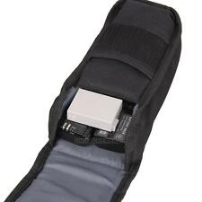 Portable Waterproof Nylon Flash light Camera Battery Bag Case Pouch Cover Black
