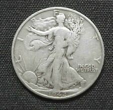 1942-S Liberty Walking 90% Silver Half Dollar nice Condition. World War 2 Era