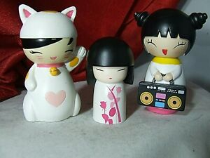 RARE Momiji Messenger Doll Lucky Kitty 2011, AND  Party Girls PLUS Nozomi.