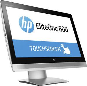 "HP EliteOne 800 G2 AiO COMPUTER PC i7 6700 8GB 500GB SSHD TOUCH 23"" FHD WIn10P"