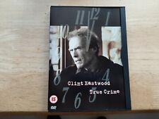 TRUE CRIME DVD UK EDITION REGION 2 CLINT EASTWOOD THRILLER FILM MOVIE
