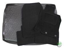 Nissan qashqai J11 5 portes 2014-up sur mesure noir sol tapis de voiture + boot tray mat