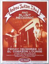 Andrew Jackson Jihad 2010 Gig Poster Seattle Washington Concert