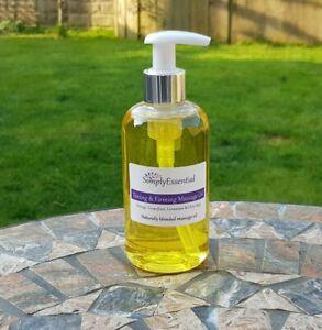 Toning and Firming Massage oil 250ml Anti cellulite Orange Grapefruit Geranium