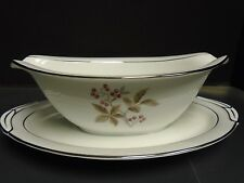 Noritake #5447 Gravy Boat and Attached Liner