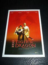 CROUCHING TIGER, HIDDEN DRAGON, film card [Chow Yun-Fat, Michelle Yeoh]