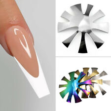 Nail Art Tool Stencil French Tip Smile Line Multi-Sizes Easy Edge Cutter Trimmer