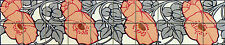 Mural Ceramic Backsplash Art Nouveau Border Tile #535