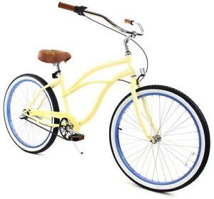 Zycle Fix Classic Beach Cruiser Women 3 Speed Bicycle Bike Sandy NEW
