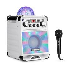 [OCCASION] Machine karaoké Mini chaine lecteur CD Bluetooth Boule disco effet lu