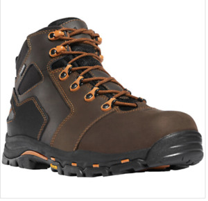 "Danner Men's Size 14 Vicious 4.5"" Brown & Orange Composite Toe Work Boots 13860"