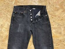 Women's Vintage LEVI'S 501 Faded Black High Waisted Mom Denim Jeans W32 L29