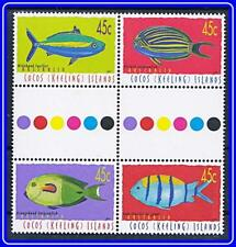 AUSTRALIA/COCOS IS. 2001 FISH / MARINE LIFE gutter PAIRS MNH