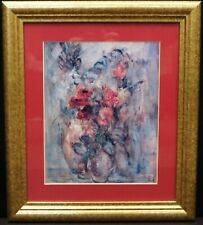 "Edna Hibel ""Casual Arrangement"" Framed Matted LE Print 1995 - B0358"