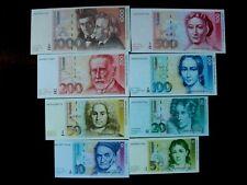 DM Scheine 5 - 1000 Deutsche Mark Geschichte 1990
