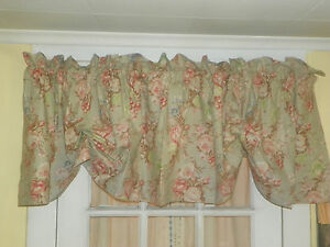 VINTAGE RALPH LAUREN CHARLOTTE ADJUSTABLE VALANCE-RINGS ON THE BACK-9 AVAILABLE