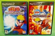 Naruto Ultimate Ninja 2 + Uzumaki Chronicles - Sony PlayStation 2 PS2 2 Game Lot
