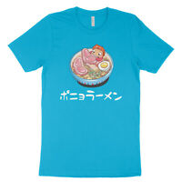 Ponyo on the Cliff Ham Ramen Funny Men Anime Graphic Tee Totoro Unisex T-Shirt