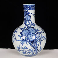 Chinese Blue And White Porcelain Globular Shape Vase Pot Plate Bowl