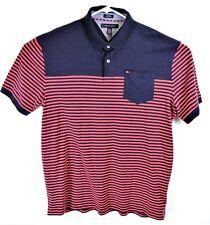 Vintage Tommy Hilfiger Horizontal Stripe Custom Fit Polo Shirt Men's XXL