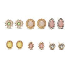 Bohemia Geometric Crystal Earrings Ear Stud Set Fashion Jewelry Christmas Gifts
