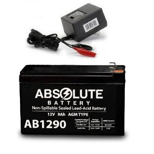 New AB1290 12V 9AH Battery Surge 24V City Scooter Model #8801-29 & Charger