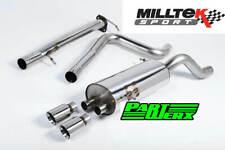 Ford Fiesta MK7 MK7.5 ST 1.6 & ST 200 Milltek Non Res Cat Back Polished GT80