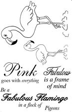 Fabulous Flamingoes Unmounted Rubber Stamp Set by Stamp Addicts