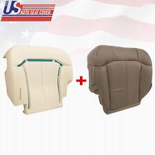2000 to 2002 Chevy Silverado Driver Bottom Seat Cover & Foam Cushion Neutral tan