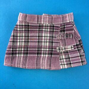 American Girl Battat Purple Plaid Skirt
