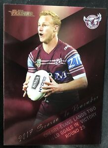 2018 NRL TRADERS Daly Cherry-Evans.Season To Remember Insert.Manly Sea Eagles.
